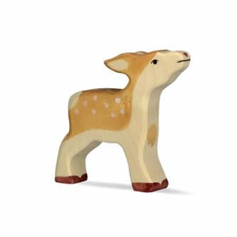 Holztiger Holzfigur Kitz