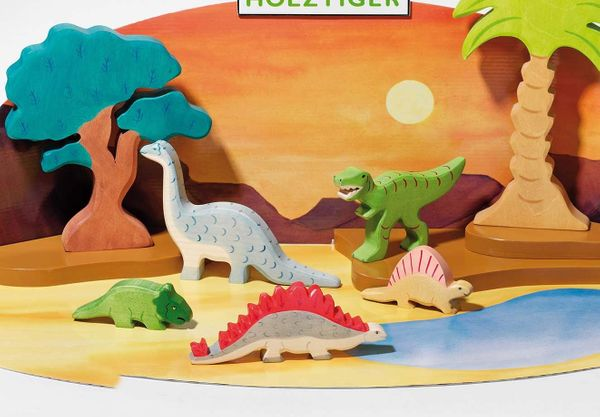 Holztiger Holzfigur Brontosaurus