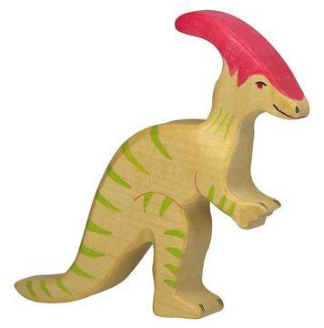 Holztiger Holzfigur Parasaurolophus