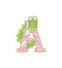 Sevi Buchstabe A Aligator, rosa