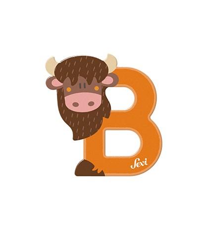 Sevi Buchstabe B Bison