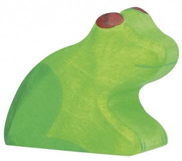 Holztiger Holzfigur Frosch