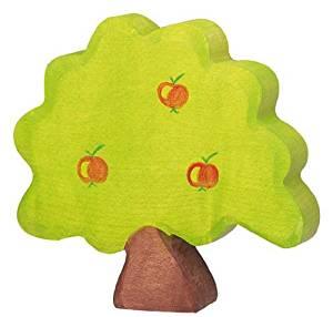Holztiger Holzfigur Apfelbaum, klein