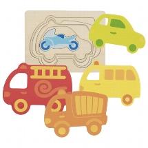 Goki Schichentpuzzle - Fahrzeuge
