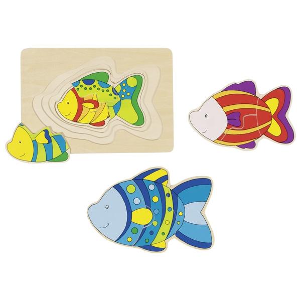 Goki Schichtenpuzzle - Fisch