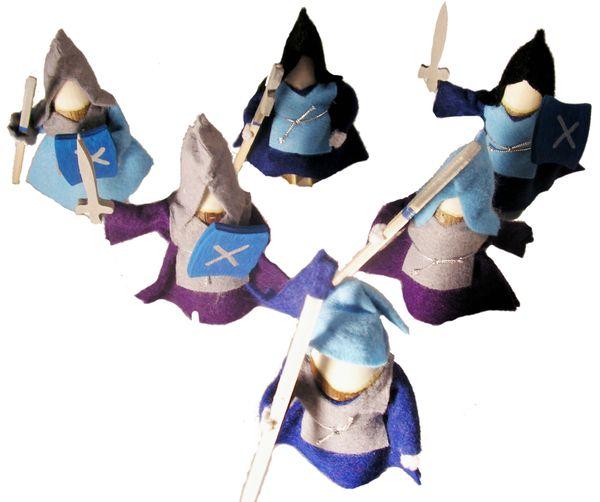 Standfeste Ritter (blau)
