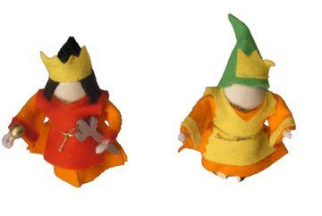 Magic Wood Königspaar Biegepuppen
