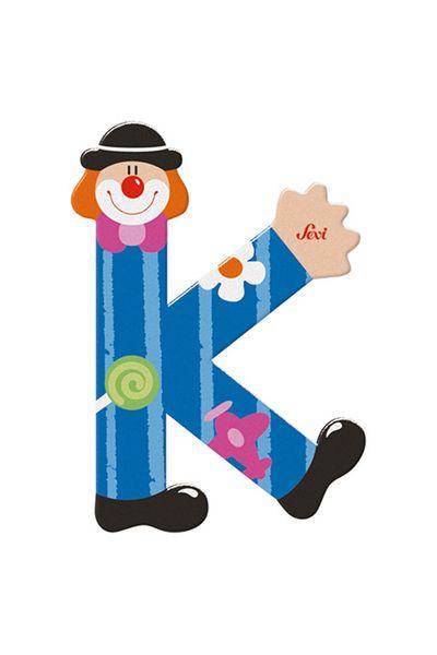 Sevi Buchstaben Clown K, blau