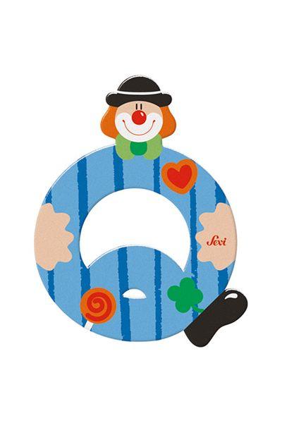 Sevi Buchstaben Clown Q, blau