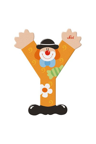 Sevi Buchstaben Clown Y, orange