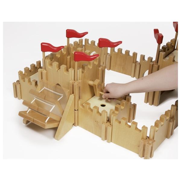 Holztiger Ritterburg aus Holz
