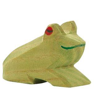 Ostheimer Holzfigur Frosch, sitzend