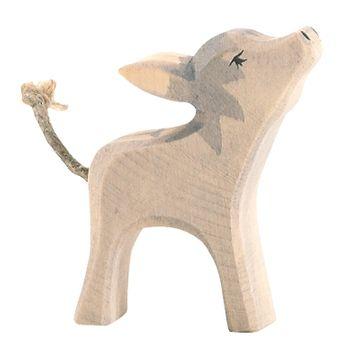 Ostheimer Holzfigur Esel klein, Kopf hoch