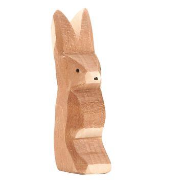 Ostheimer Holzfigur Hase Ohr hoch