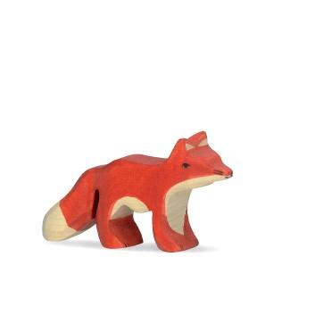 Holztiger Holzfigur Fuchs klein