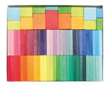 Holzbausteine Farben Ralley