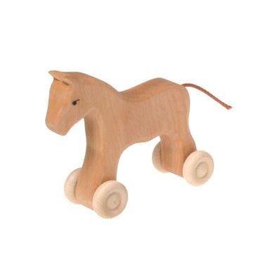 Holzpferd mit Rollen klein Waldorf Art