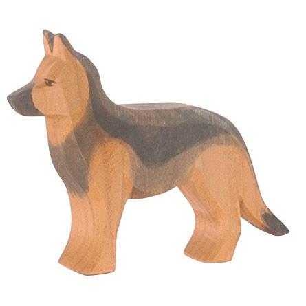 Ostheimer Holzfigur Schäferhund stehend