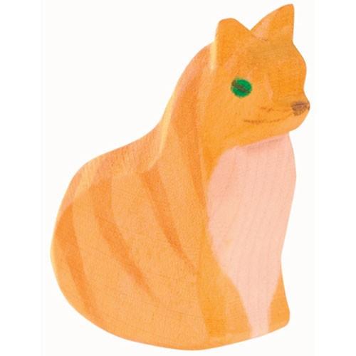 Ostheimer Holzfigur Katze sitzend