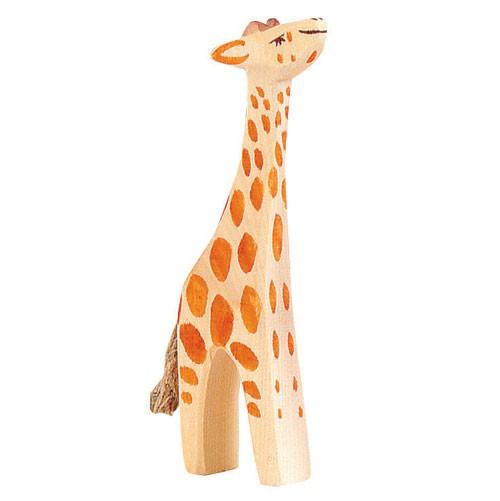 Ostheimer Holzfigur Giraffe klein, Kopf hoch