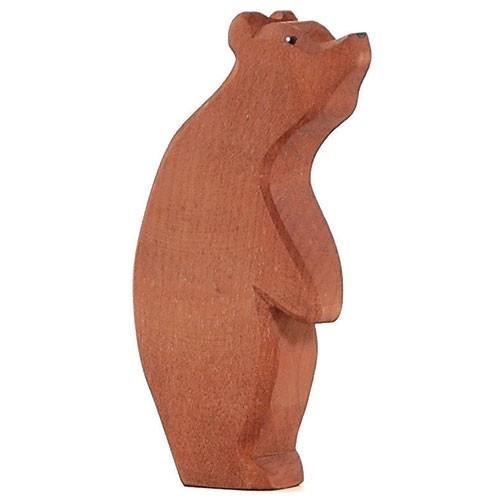 Ostheimer Holzfigur Bär groß stehend, Kopf hoch