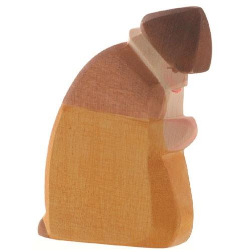 Ostheimer Krippenfigur Hirte kniend