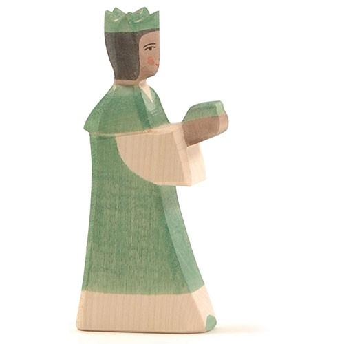 Ostheimer Krippenfigur König grün
