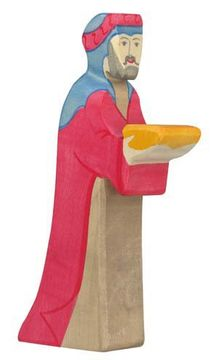 Holztiger Krippenfigur Caspar 2