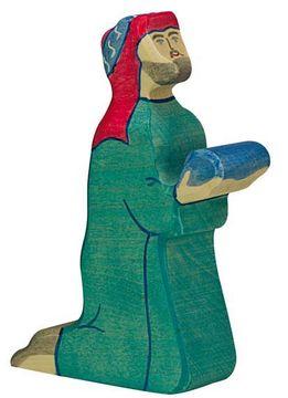 Holztiger Krippenfigur Balthasar 2