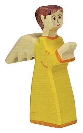 Holztiger Krippenfigur Engel stehend 2