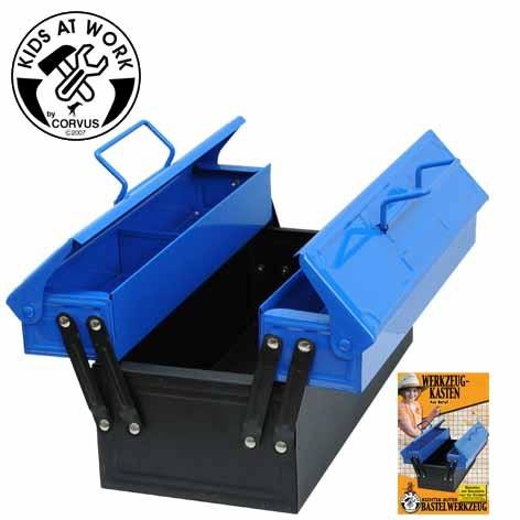 Corvus Kinderwerkzeug Werkzeugkasten blau