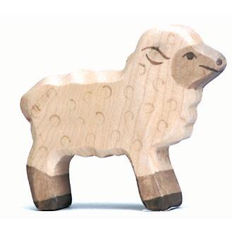 Holztiger Holzfigur Lamm