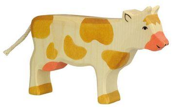 Holztiger Holzfigur Kuh braun