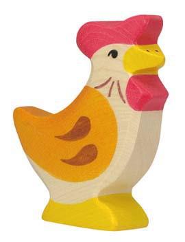Holztiger Holzfigur Huhn