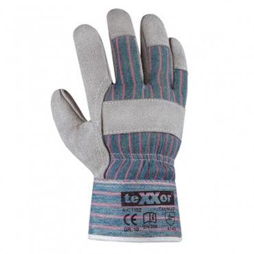 """Rindkernspaltleder-Handschuhe, """"TAUNUS"""" Arbeitshandschuhe, Lederhandschuhe, teXXor"""