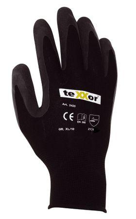 teXXor® Polyester-Strickhandschuh Latex beschichtet, Montage- u. Arbeitshandschuh