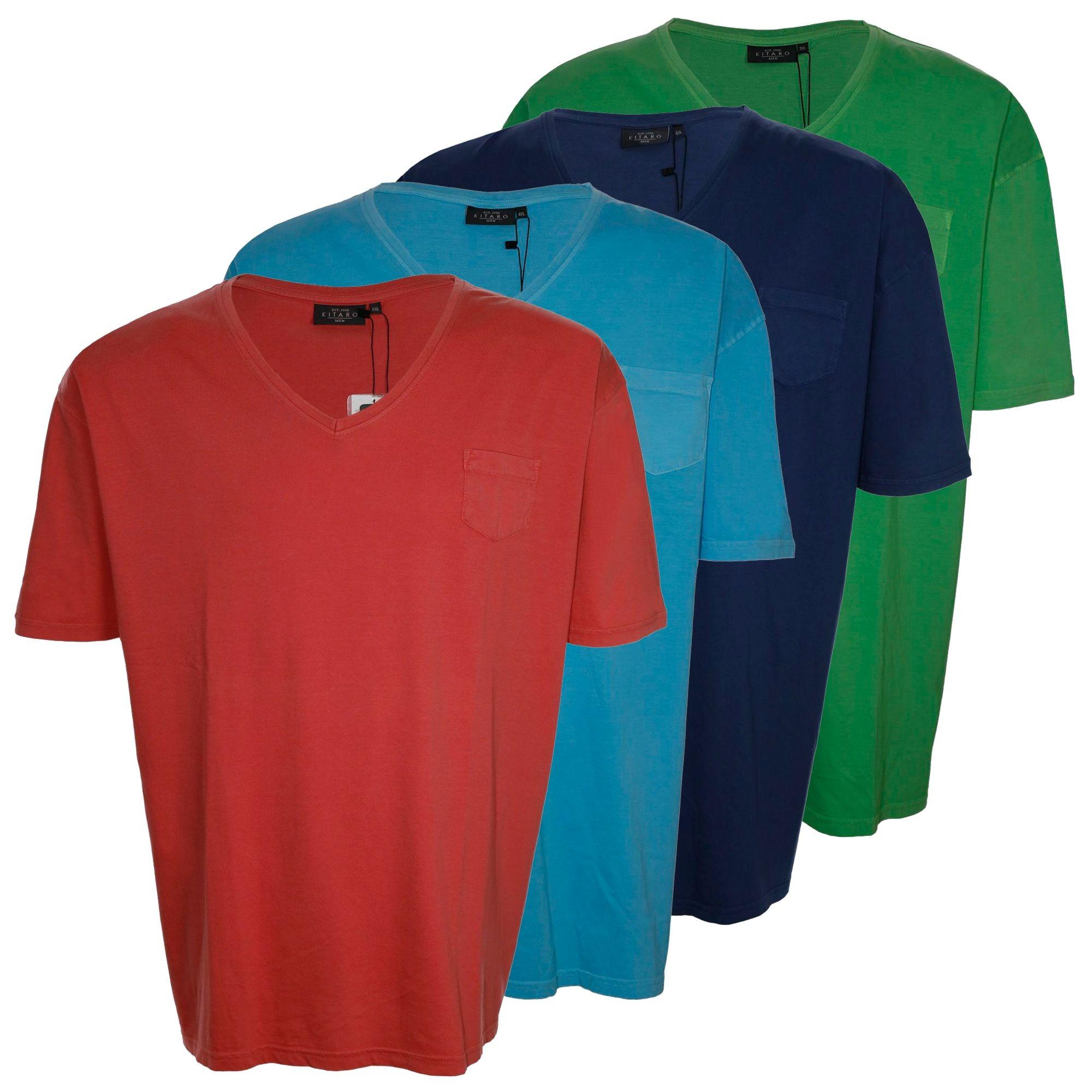 Kitaro T shirt homme manches courtes plusgröße grande taille