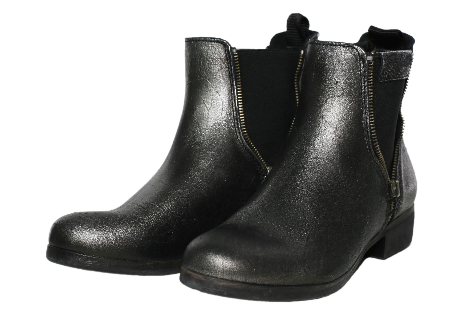 replay annie damen chelsea boots stiefel stiefeletten silber leder ebay. Black Bedroom Furniture Sets. Home Design Ideas