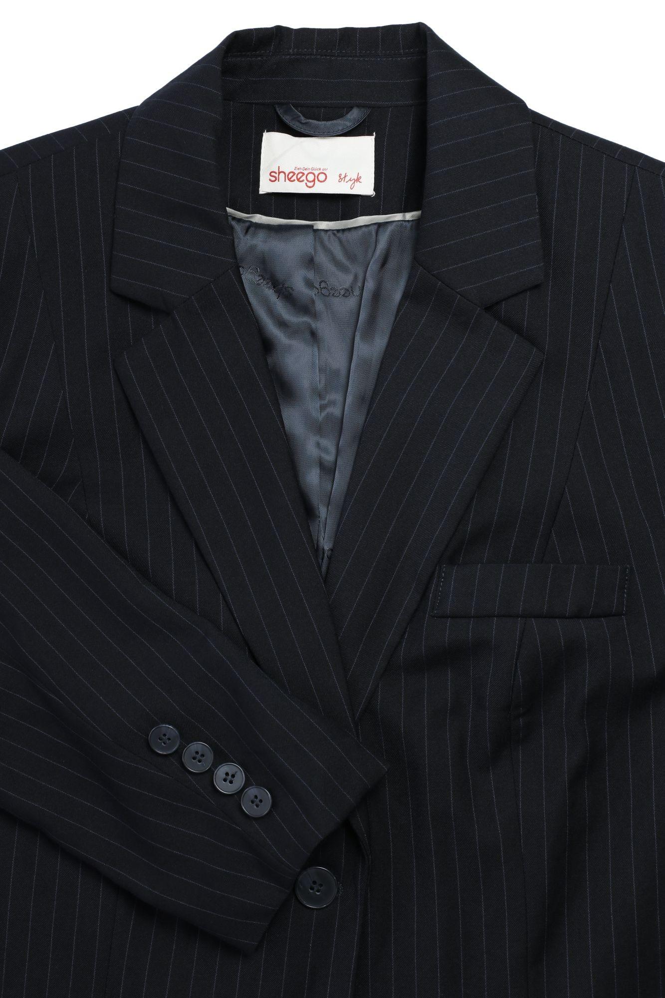 le d'origine Sheego taille plusgröße Redingote titre grande Blazer Longblazer sur afficher Veste Femmes Détails Viscose FKl1J3uTc