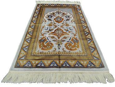 Seccade Kadifeteks Namzla Namazlik Gebetsteppich Simli Sari – Bild 1