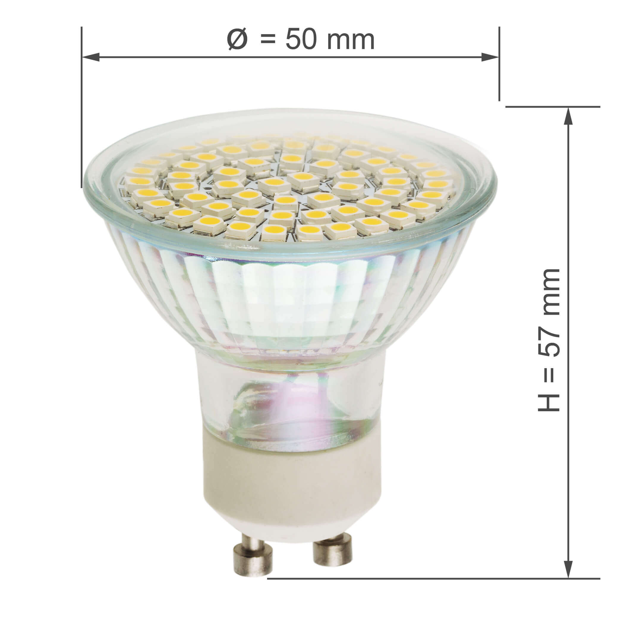 LED GU10 SMD5060 WARM WHITE