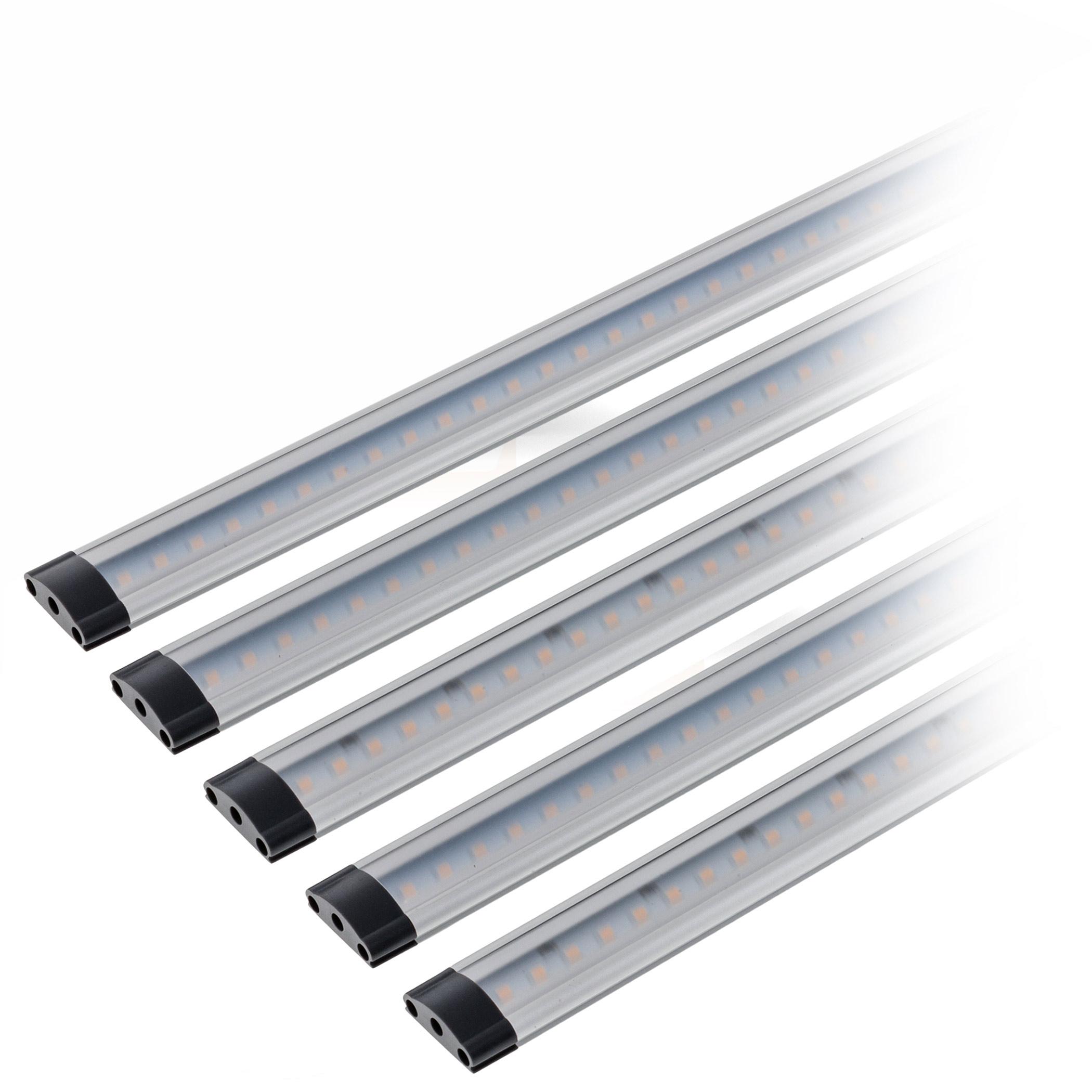 5er Set LED Unterbauleuchte 30cm dimmbar
