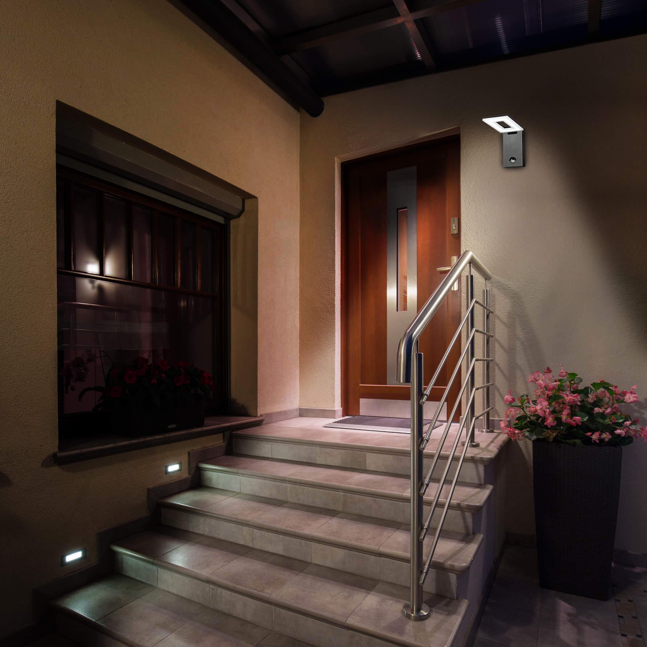 led au enleuchte mit bewegungsmelder 10w. Black Bedroom Furniture Sets. Home Design Ideas