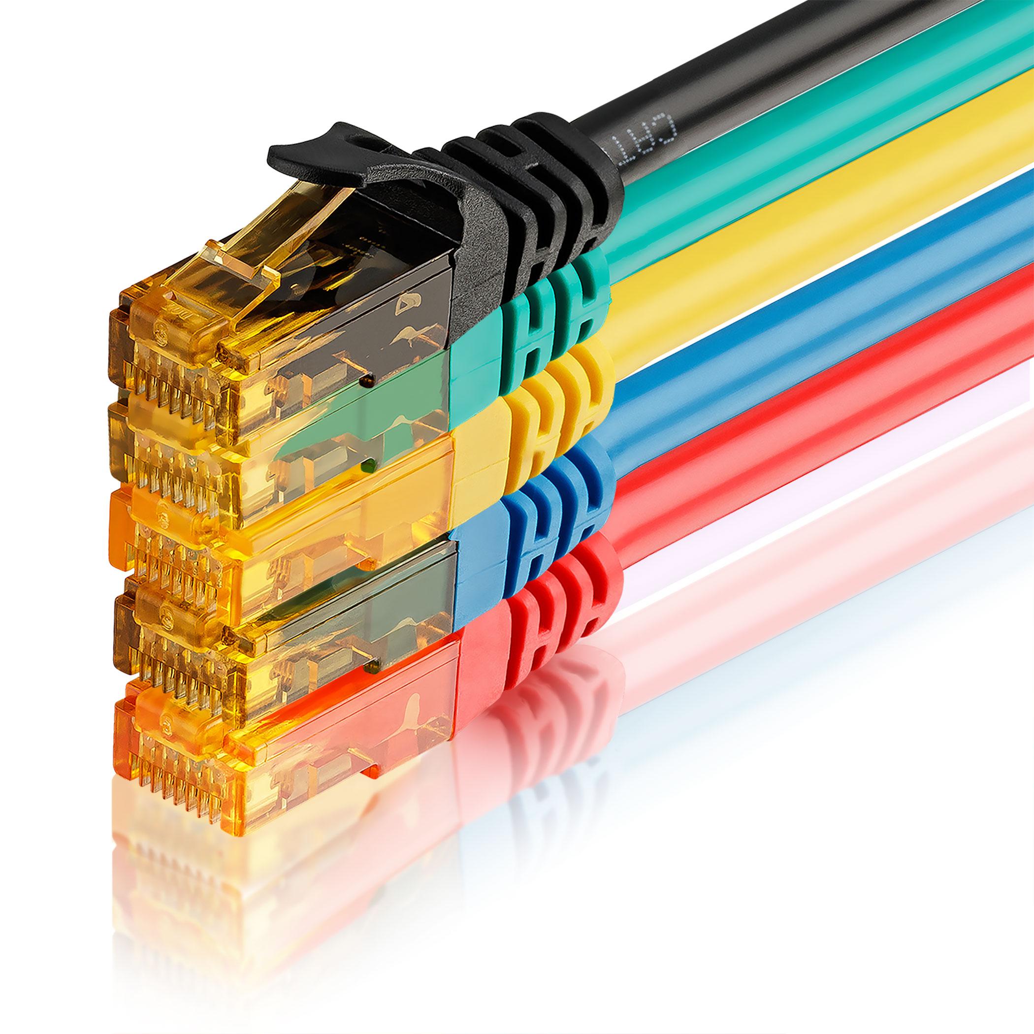 5 Stk. CAT6 Ethernet Kabel 50cm