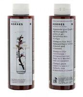 KORRES ALMOND & LINSEED – für trockenes, strapaziertes Haar Shampoo 250ml