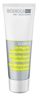 BIODROGA MD CLEAR+ 24-H PFLEGE UNREINE MISCHHAUT 75 ML