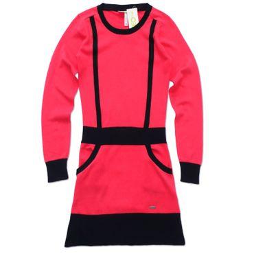 Adidas Neo Colorblock Kleid - pink/schwarz – Bild 1