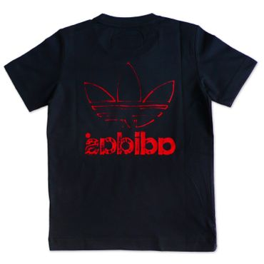 ADIDAS ORIGINALS Junior Trefoil Shirt - grau/rot – Bild 3