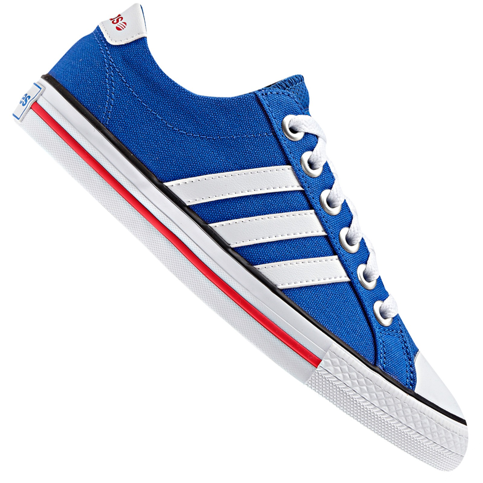 Details about Adidas Neo Label Canvas Vl 3 Stripes Derby Trainers Lifestyle  Shoes Blue White ed5aeaae162a