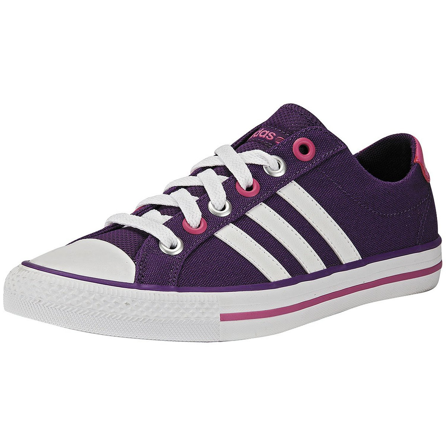 quality design 75063 cc622 authentic adidas neo label canvas vl 3 stripes sneaker lifestyle schuhe  lila pink weiss ebay c774d